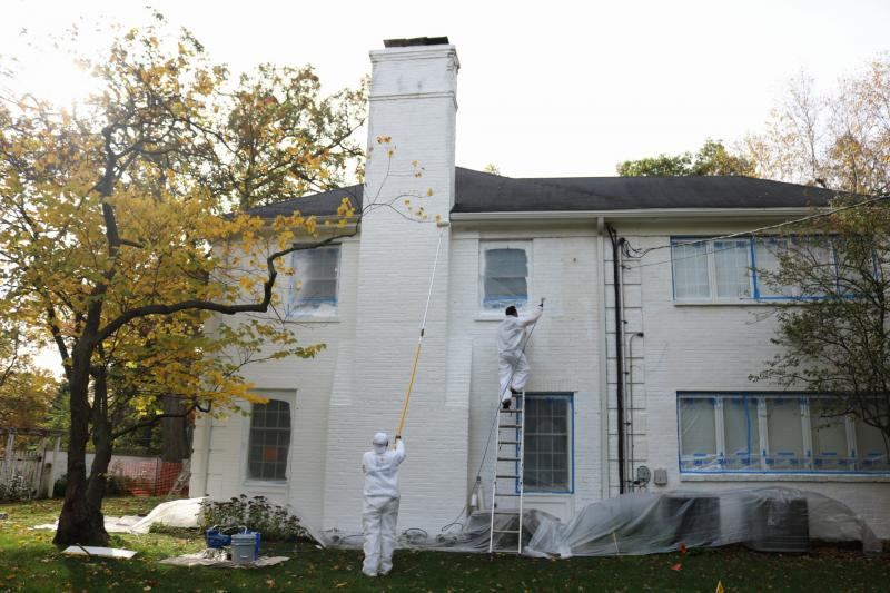 winnetka, exterior Painting,  northshore, restoration,  carpentry